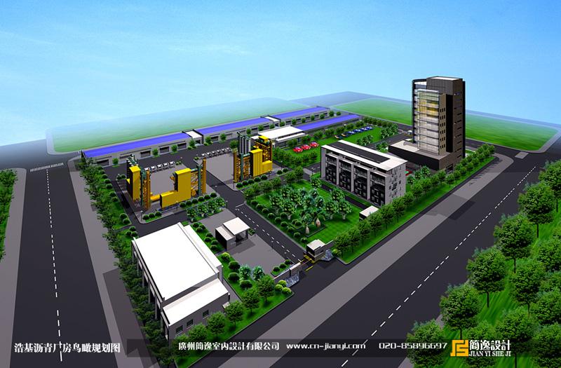 浩基沥青厂房平面规划设计图片